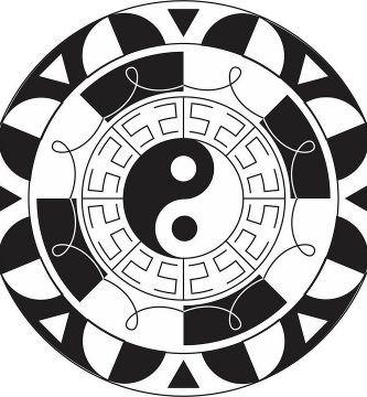 Mandala del yin y el yan