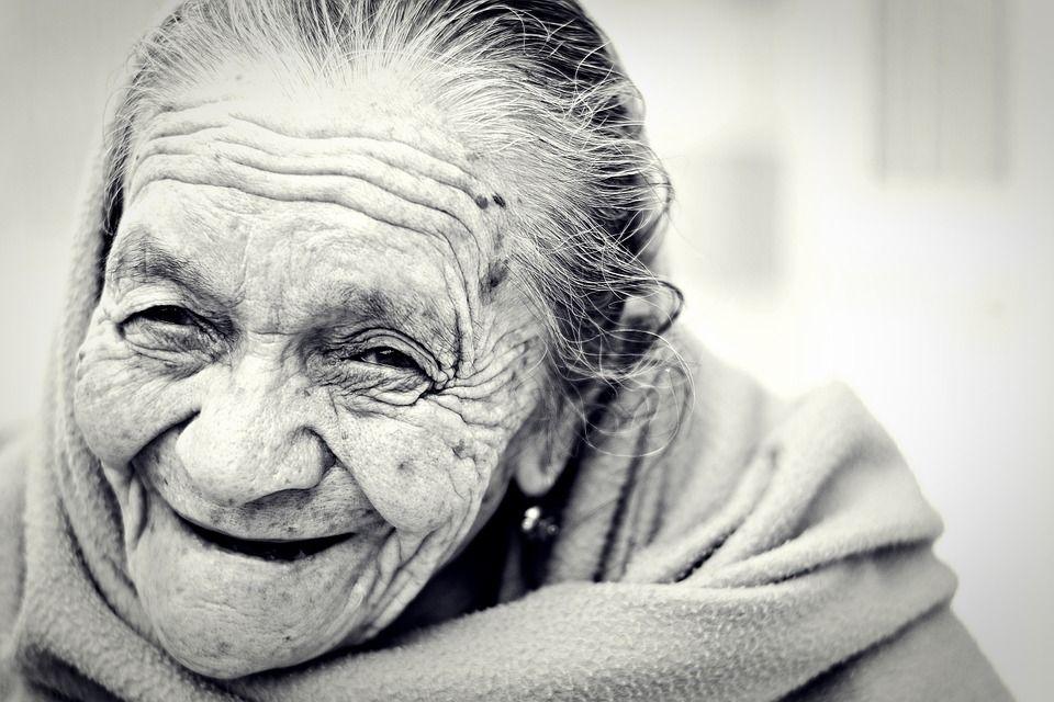 Sonrisa de anciana
