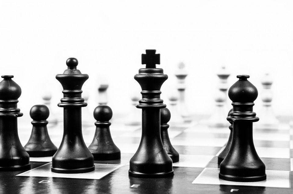 Liderazgo piezas de ajedrez