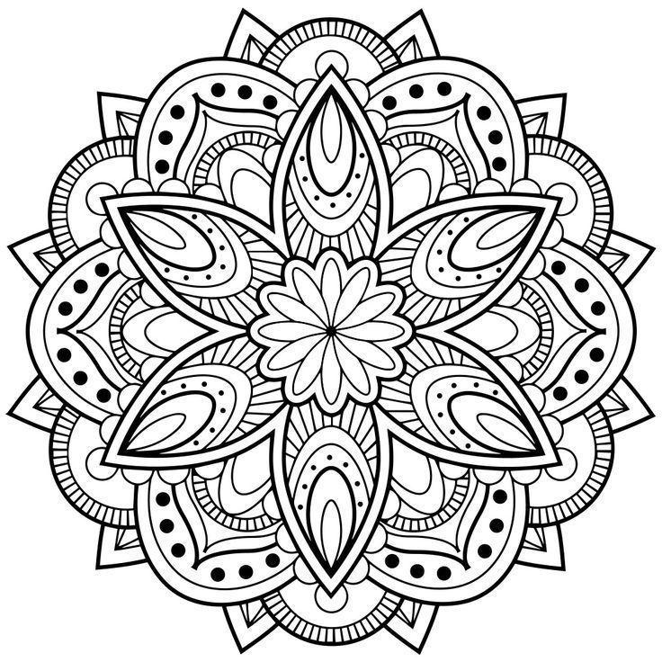Mandala pàra colorear