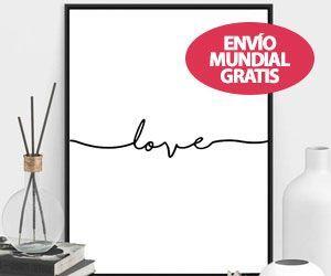 """Poster en Blanco y Negro """"LOVE"""""""